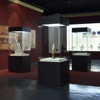 museum display showcase and floor stand display case