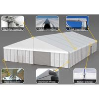 Canopy Steel Structure Aircraft Hangar Warehouse Outdoor Garden Storage Car Parking Metal Shed thumbnail image