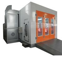 Outdoor auto paint oven booth spray booth with electric heating system