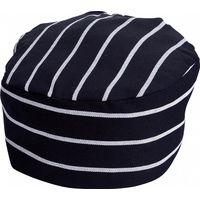 Custom Polyester Cotton Woven Unisex Navy White Stripe Chef Hat