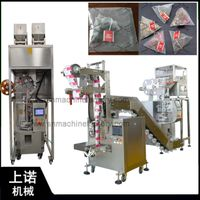 High end nylon triangle pyramids herbal tea sachet bag packing machine with string and paper label thumbnail image