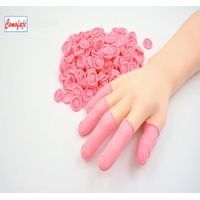 Anti-static finger cots ESD Pink color Latex finger cots