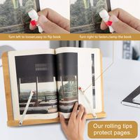 The bamboo book reading stand is just a good partner for you thumbnail image