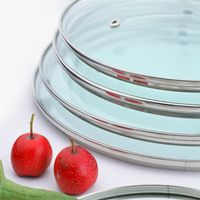 glass lids with stainless steel rim tempered glass lids thumbnail image