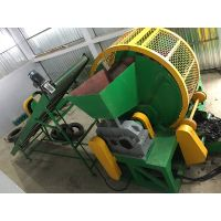 Waste tire recycling tire shredder