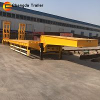 Chengda Brand Heavy Duty Construction Machinery Transport Lowbed Truck Semitrailer