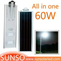 60W Integrated solar powered LED street, garden, landscape, Desert light with motion sensor function