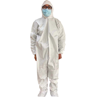 Microporous Disposable Coveralls Protective Breathable Hooded Suit With Elastic Cuffs thumbnail image