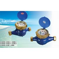 Rotary vane wheel liquid sealed water meter