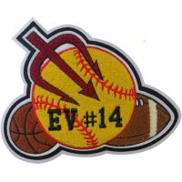 CNL058 chenille patch, chenille badge mascot, chenille emblems, chenille letters thumbnail image