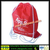 Machine made small non woven drawstring bag