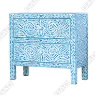 BLUE PATTERNED CHEST OF DRAWERS
