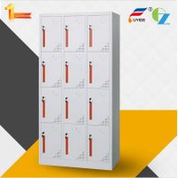 Popular design colorful handle 12 door steel locker with ventilation