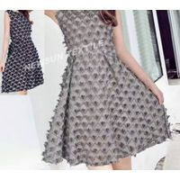 high quality 3D Organza Jacquard fabric for ladies skirt fashion dress and Garment