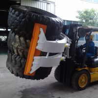 Forklift Hyraulic Tyre Handler Tyre Clamp Rotating thumbnail image