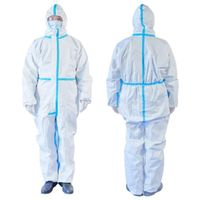 Non-woven Isolation Gown, Safety Disposable Isolation Suit , Protective coverall