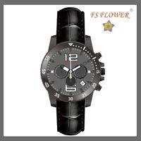 FS FLOWER --- SSX018-B Stainless Steel Men Chnorograph Watch