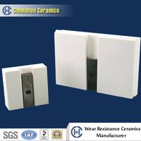 Wear Alumina Ceramic Lining Tile with Groove and Slot/ Abrasive Ceramic Liner