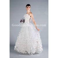 Ball Gown Strapless Sleeveless Wedding Dress with Basque Waist