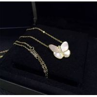 NEFFLY 2016 NEW ARRIVAL FREE SHIPPING FASHION 925 silver Clover Butterfly pendant Necklace free ship