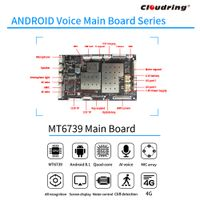 4G MT6739 Android Main Board for Robotic 6MIC ARRAY