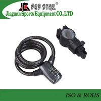 Anti-theft Steel Cable Password Bike Lock with Carbon Fiber head thumbnail image