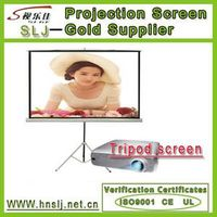 Craze saled tripod projector screen/high definition tripod projection screen