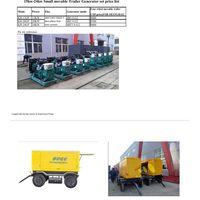 Movable Trailer Generator set