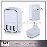 multiple usb charger 5V4.5A 3 usb port wall charger with smart IC for smart phone