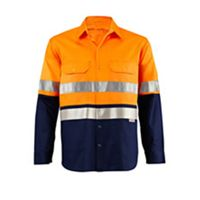 LS Two Tone Hi Vis Shirt with Press Stud and 9920 Tape