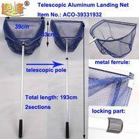 fishing landing net with telescopic aluminum handle