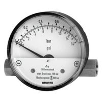 Differential Pressure Gauge with Magnetic Piston #MDH-90