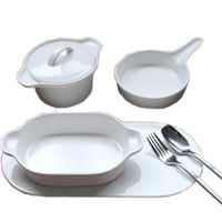 Bakeware Set Round Cake Mold Pizza Pan Dining Soup Tureen