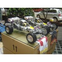Full Sliver Alloy Metal Baja 5b 30.5cc  KM  /C  Car with 2.4 GHz  3CH Transmitter thumbnail image