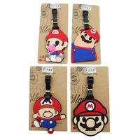 Custom Pvc Travel Luggage Tag Cartoon Silicone Luggage Name Tag