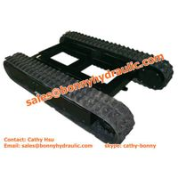 excavator rubber tracked undercarriage
