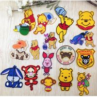 Winnie Pooh bear shape embroidery ironing sew badges patches thumbnail image
