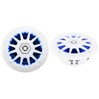 MRGB65 200 Watt (Per Pair), 6.5 Inch, Full Range, 2 Way Marine Speakers, (Sold In Pairs) Multi Color