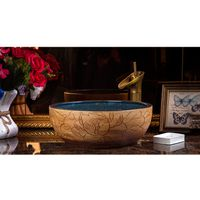 Luxury Vanity Modern Artistic Ceramic Wash Bowl Bathroom Round Lavabo Kitchen Wash Basin