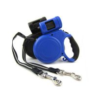 ECO-friendly Nylon material 5 M length Pet dog Retractable Leash rope machine with rubbish box
