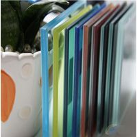 Color Tinted Laminated Glass Claddng Wall Balustrade