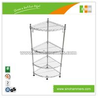 Triangular corner wire shelves for sale