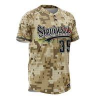 Cutom digital camo baseball jersey sublimated baseball jersey thumbnail image