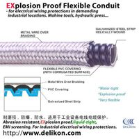 Heavy series flexible cable sheath liquid Proof Over braided Flexible Steel Conduit thumbnail image