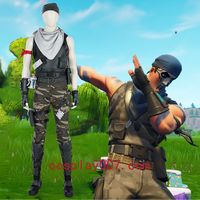 Fortnite male commando cosplay costume man role game costume