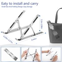 Portable Laptop Stand with 6 Angles Adjustable Laptop Computer Stand Aluminum Ergonomic Laptops Elev thumbnail image