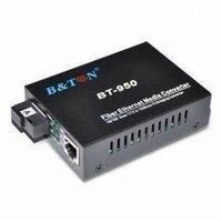 Media Converter with SC Fiber/UTP RJ45 Connector and WDM Technology Single Fiber