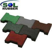 Heavy Duty Horse Barn Dog Bone Rubber Paver Tiles