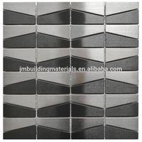 brushed metal mosaic tile stainless steel mosaic tile thumbnail image