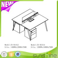 America Simple Style Office Furniture Face to Face 2 Seat Screen Workstation ZS-B1514